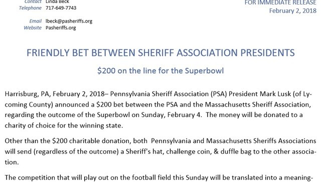 Super bets for the Super Bowl: New England and Pennsylvania